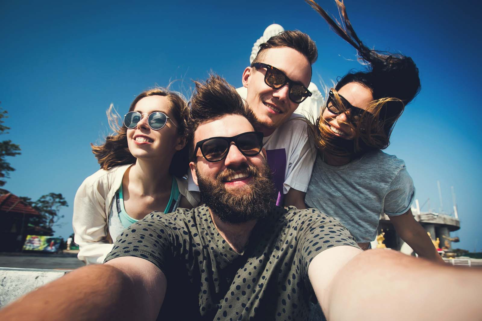 How can I participate in Work and Travel USA with my friends?